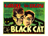 The Black Cat, Boris Karloff, Bela Lugosi, 1934 Póster