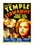 Stowaway, Robert Young, Alice Faye, Shirley Temple, 1936 Posters
