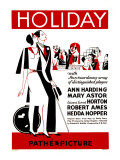 Holiday, Poster Art, 1930 Photo