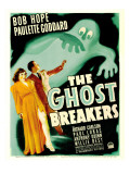Ghost Breakers, Paulette Goddard, Bob Hope on Window Card, 1940 Photo