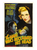 The Man Who Reclaimed His Head, Lionel Atwill, Claude Rains, Joan Bennett, 1934 Photo