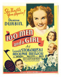 One Hundred Men and a Girl, Deanna Durbin, 1937 Lminas