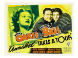 Annabel Takes a Tour, Lucille Ball, Jack Oakie, Lucille Ball (Far Right), 1938 Posters