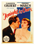 Tonight Is Ours, Fredric March, Claudette Colbert on Midget Window Card, 1933 Poster
