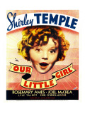 Our Little Girl, Shirley Temple on Window Card, 1935 Photo
