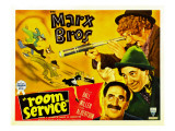 Room Service, Marx Brothers Left from Left: Chico Marx, Groucho Marx, Harpo Marx, 1938 Prints