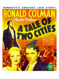 A Tale of Two Cities, Background: Ronald Colman, 1935 Posters