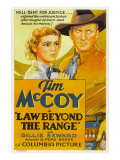 Law Beyond the Range, Billie Seward, Tim Mccoy, 1935 Print