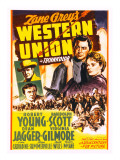 Western Union, Randolph Scott, Dean Jagger, Robert Young, Virginia Gilmore, 1941 Posters