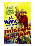 Telegraph Trail, John Wayne (Climbing Telegraph Pole), 1933 Photo