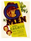 G-Men, Ann Dvorak, Margaret Lindsay, James Cagney on Window Card, 1935 Print