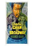 Charlie Chan on Broadway, Top Center: Warner Oland, 1937 Poster