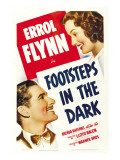 Footsteps in the Dark, Errol Flynn, Brenda Marshall, 1941 Poster