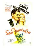 San Francisco, Clark Gable, Jeanette Macdonald, 1936 Posters