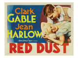Red Dust, Jean Harlow, Clark Gable, 1932 Affiches