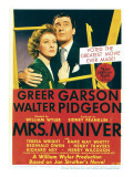 Mrs. Miniver, Greer Garson, Walter Pidgeon on Midget Window Card, 1942 Prints