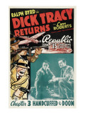Dick Tracy Returns, 'Chapter 3: Handcuffed to Doom', 1938 Plakater