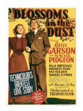 Blossoms in the Dust, Greer Garson, Walter Pidgeon on Midget Window Card, 1941 Posters