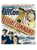 Flight Command, Walter Pidgeon, Robert Taylor, Ruth Hussey, Robert Taylor on Window Card, 1940 Photo