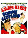 Bonnie Scotland, Oliver Hardy, June Lang, Stan Laurel on Window Card, 1935 Print