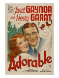 Adorable, Janet Gaynor, Henri Garat, 1933 Poster
