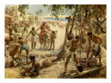Israelites making bricks iin Egypt, Exodus I 13 -14 Giclee Print by William Brassey Hole