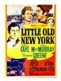 Little Old New York, Richard Greene, Alice Faye, Fred Macmurray on Midget Window Card, 1940 Photo
