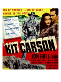 Kit Carson, Jon Hall, Lynn Bari, Jon Hall on Window Card, 1940 Photo