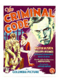 The Criminal Code, Phillips Holmes, Constance Cummings, Walter Huston on Window Card, 1931 Photo
