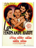 Love Finds Andy Hardy, Judy Garland, Mickey Rooney, Ann Rutherford, 1938 Poster