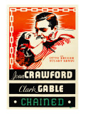 Chained, Joan Crawford, Clark Gable, 1934 Posters