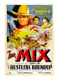 Rustlers&#39; Roundup, Tom Mix, Noah Beery Jr., Diane Sinclair, 1933 Poster