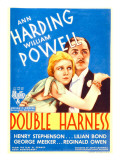 Double Harness, Ann Harding, William Powell on Midget Window Card, 1933 Kunstdrucke