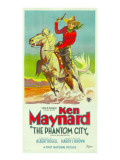 The Phantom City, Atop Horse: Ken Maynard; 3-Sheet Poster, 1928 Photo