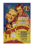 Happy Landing, Cesar Romero, Sonja Henie, Don Ameche, Ethel Merman, 1938 Poster