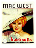 It Ain&#39;T No Sin, Mae West, 1934 Poster