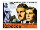 Rebecca, Laurence Olivier, Joan Fontaine, 1940 Print