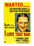 I Love That Man, Edmund Lowe, 1933 Photo