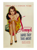 Ladies They Talk About, Barbara Stanwyck, 1933 Póster
