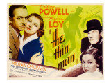 The Thin Man, William Powell, Myrna Loy, 1934 Plakat