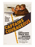 Captains Courageous, Freddie Bartholomew, Spencer Tracy, 1937 Poster