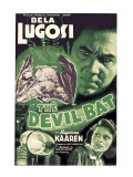 The Devil Bat, Bela Lugosi (Top), Suzanne Kaaren (Bottom), 1940 Kunstdrucke