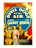 Devil Dogs of the Air, James Cagney, Margaret Lindsay, Pat O'Brien on Midget Window Card, 1935 Prints