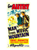 Man from Music Mountain, Gene Autry, Smiley Burnette, 1938 Pósters