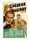 College Holiday, Mary Boland, Jack Benny, Gracie Allen, George Burns, Martha Raye, 1936 Photo
