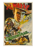 The Oregon Trail, (Poster Art), John Wayne, 1936 Photo