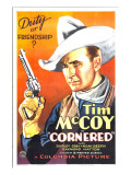 Cornered, Tim Mccoy, 1932 Print