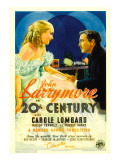 Twentieth Century (Aka 20th Century), Carole Lombard, John Barrymore on Midget Window Card, 1934 Photo