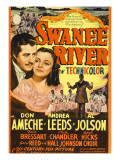 Swanee River, Don Ameche, Andrea Leeds, Al Jolson on Midget Window Card, 1939 Photo