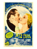 Let's Fall in Love, Edmund Lowe, Ann Sothern on Midget Window Card, 1933 Photographie
